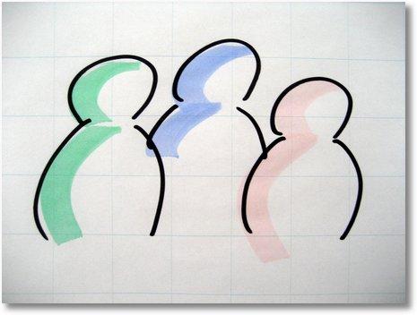Kolorieren am Flipchart - Neuland TrainerMaker BigOne