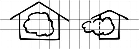 private hybrid cloud - visualisiert auf Flipchart oder Whiteboard