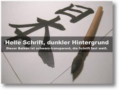 Folien wie aus Haiku Deck - helle Schrift, dunkler Hintergrund
