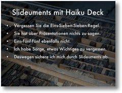 Haiku Deck 2.0 - Slideuments - Aufzählungszeichen