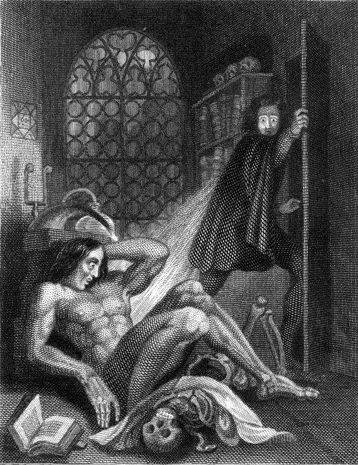 Frontispiece zur Frankenstein-Ausgabe von 1831