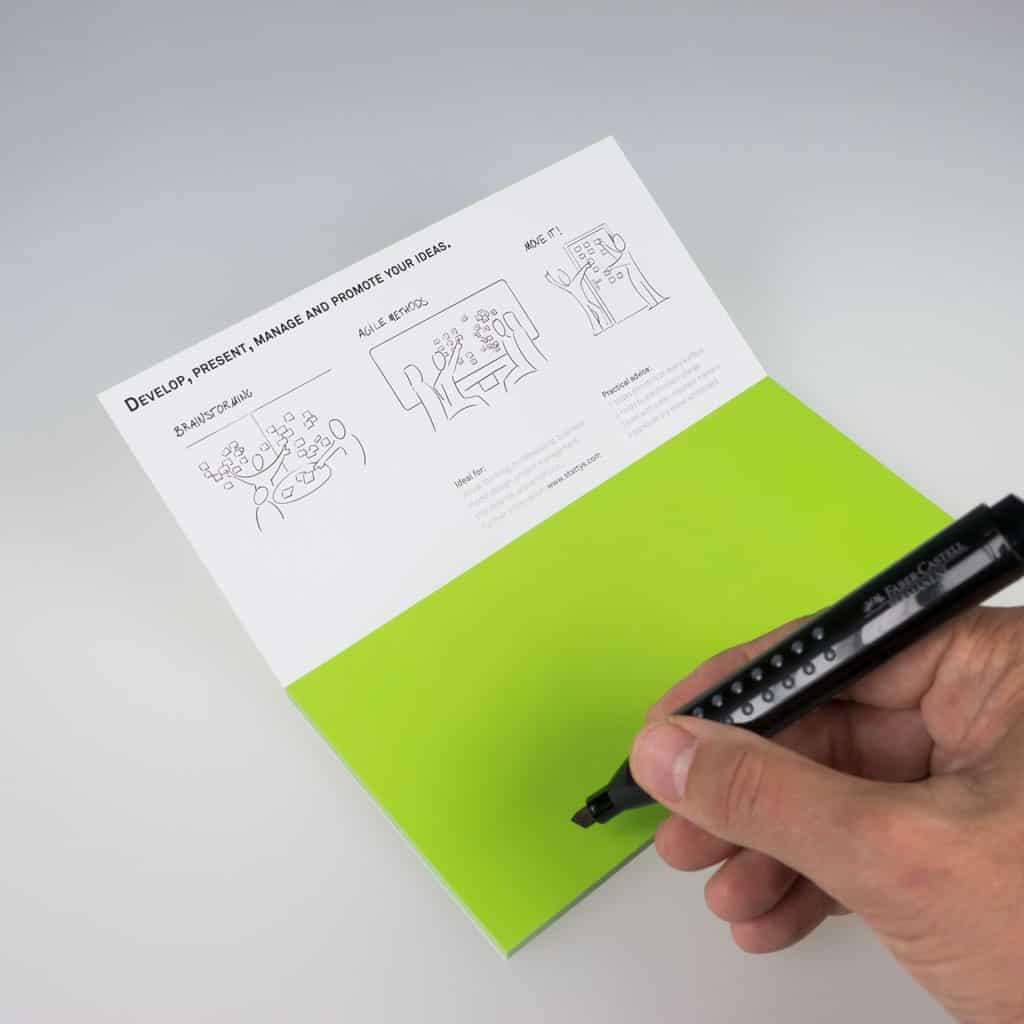 Stattys Notes M grün - Quelle: Finnovations GmbH (Stattys)