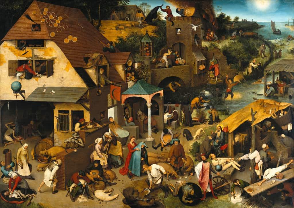 Die niederländischen Sprichwörter von Pieter Brueghel d. Ä.