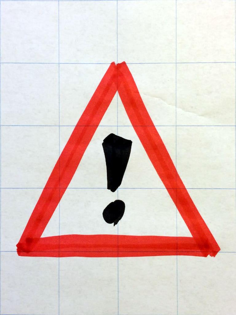 Gefahrenstelle - Warnung -Projektrisiko
