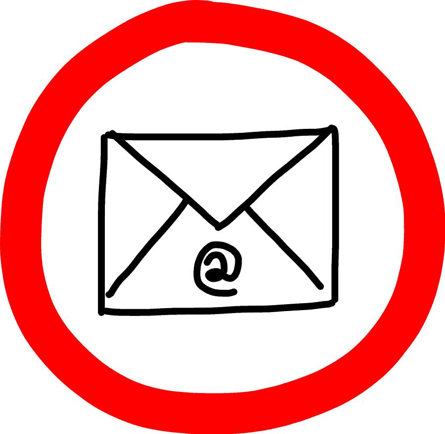 Verbotszeichen - E-Mail (1)