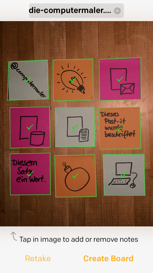 Post-it Plus App - Beispiel 1.2 - Post-its extrahieren