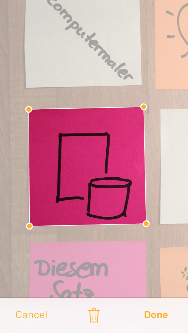 Post-it Plus App - Beispiel 1.3 einzelnes Post-it bearbeiten