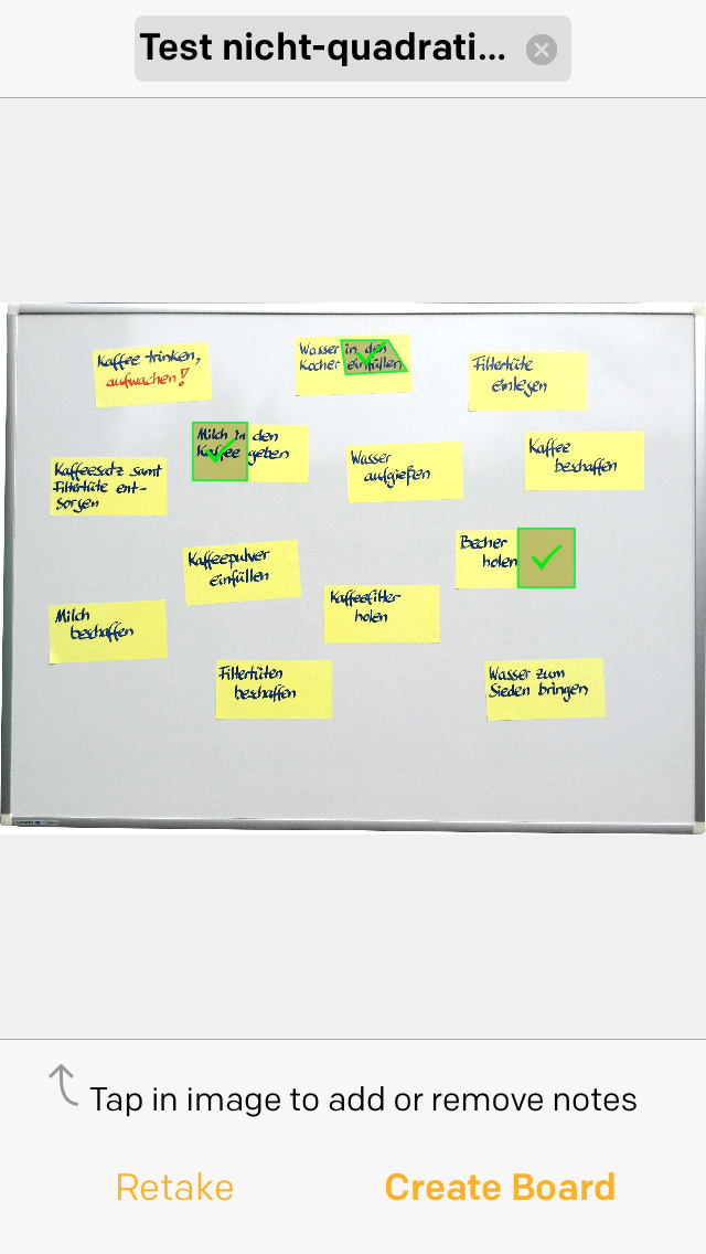 Post-it Plus App - Beispiel 2.1 - nicht-quadratische Post-its