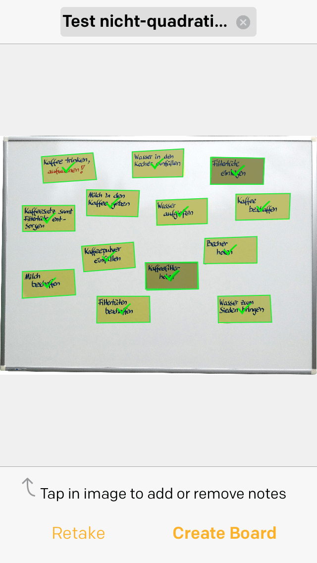 Post-it Plus App - Beispiel 2.3 - nicht-quadratische Post-its manuell selektiert