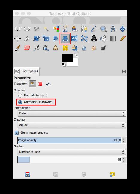 Schritt 1.1 - Whiteboard- oder Flipchart-Foto - Perspektive - Werkzeug