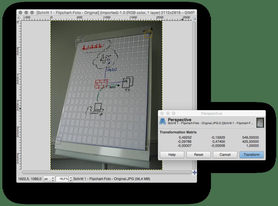 Schritt 1.4 - Whiteboard- oder Flipchart-Foto - Perspektive (2)