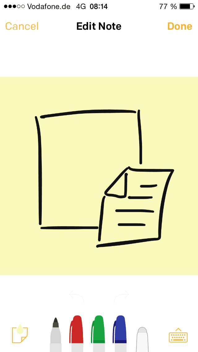 Post-it Plus App 1.1 - Post-its editieren - zeichnen