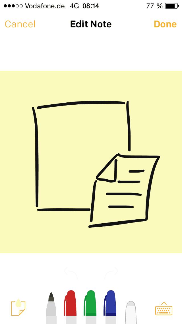 Post-it Plus App 1.1 - Post-its editieren - zeichnen