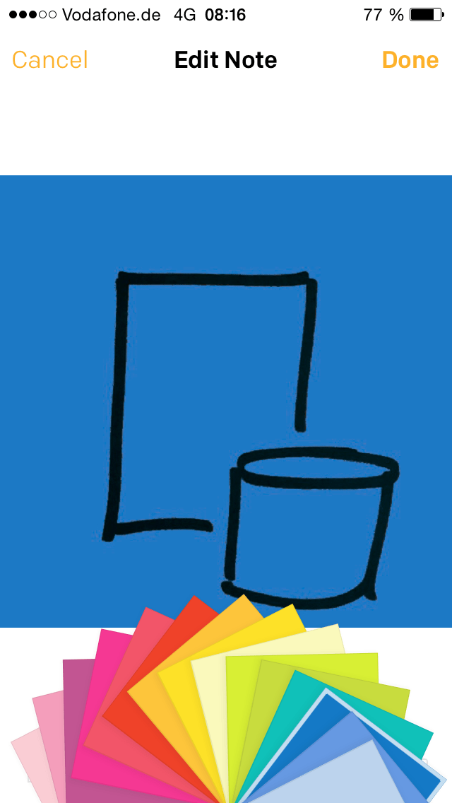 Post-it Plus App - Premium Feature - Farbe des Post-its ändern
