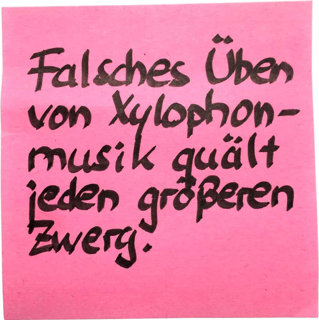 "2 mm-""calligraphy pen"" auf ""normaler"" Post-it"