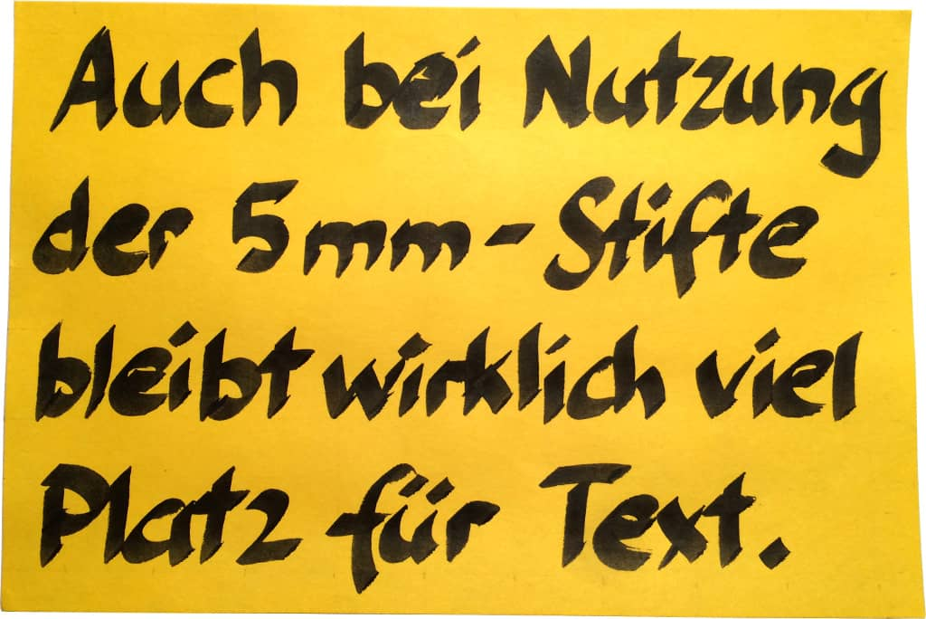 "5 mm-""calligraphy pen"" auf Post-it Meeting Note"