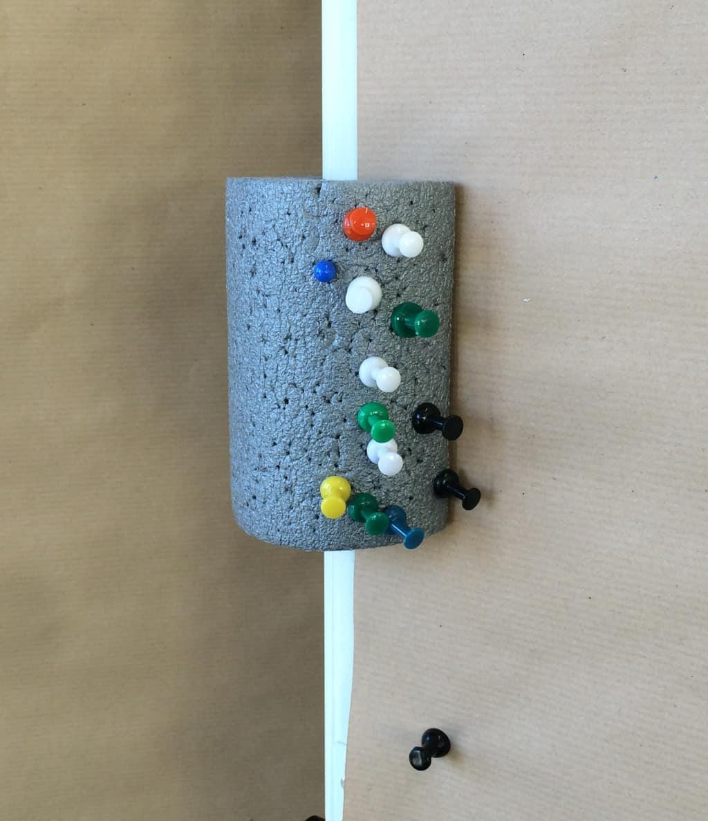 Do-it-yourself-Nadelkissen für Moderationswände und Pinnwände