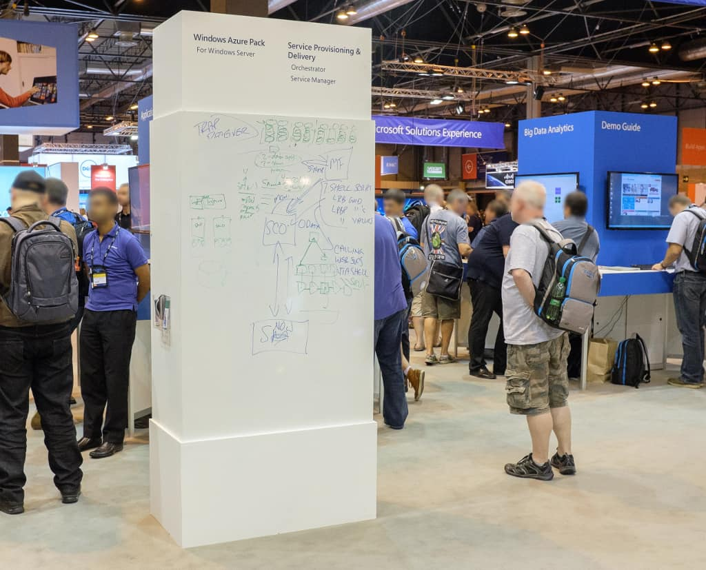 Visualisieren auf dem Messestand - Whiteboards auf der TechEd Europe