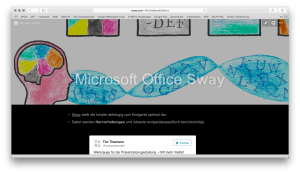 Microsoft Office Sway am normalen Endgerät