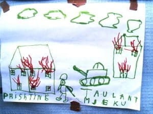 Kinderzeichnung - Kosovokrieg