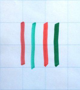Whiteboard- und Flipchart-Stifte auf Papier