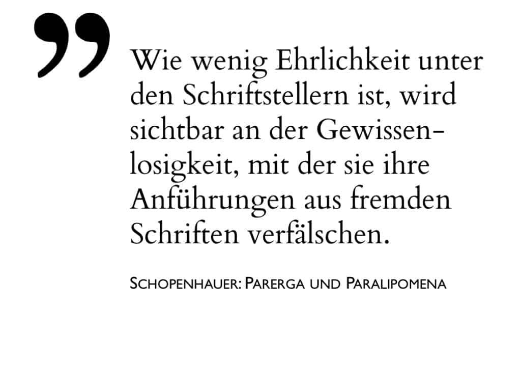 Beispiel-Folie Zitat– Schopenhauer über das zitiert werden