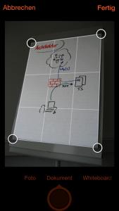 Microsoft Office Lens– zuschneiden und entzerren
