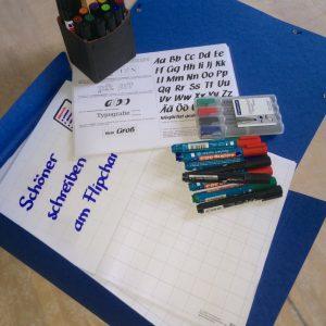Workshop - Training - Schöner schreiben an Flipchart und Whiteboard - Vorbereitung