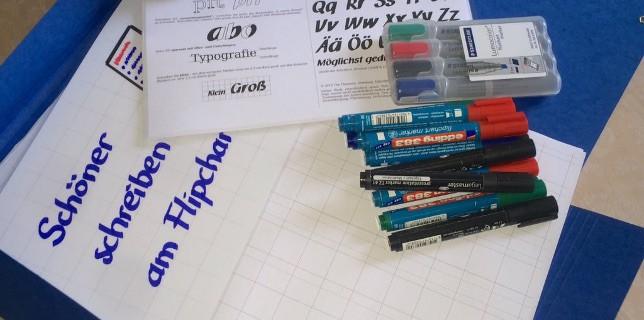 Workshop - Training - Schöner schreiben an Flipchart und Whiteboard