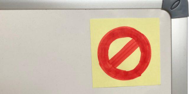 Bitte keine Haftnotizen aufs Whiteboard kleben