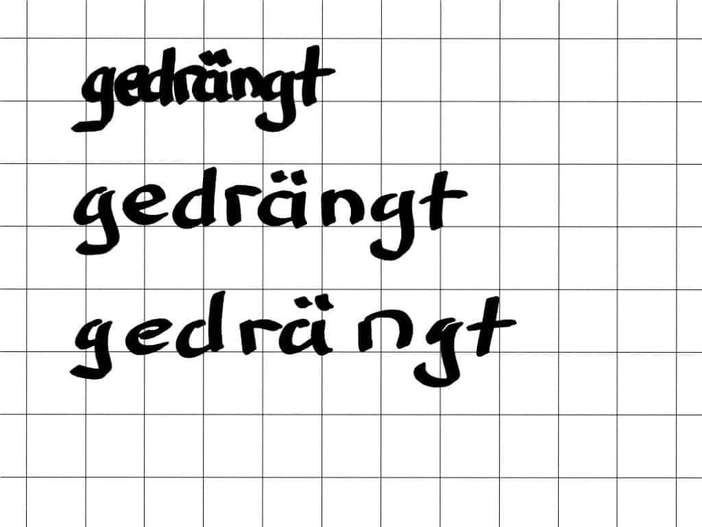 """""""Schöner"""" schreiben am Flipchart (12)– gedrängt schreiben!"""