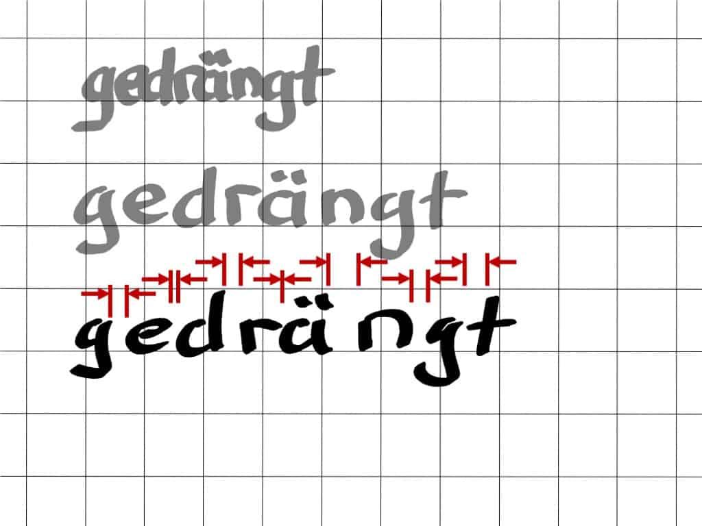 """""""Schöner"""" schreiben am Flipchart (13) - gedrängt schreiben!"""