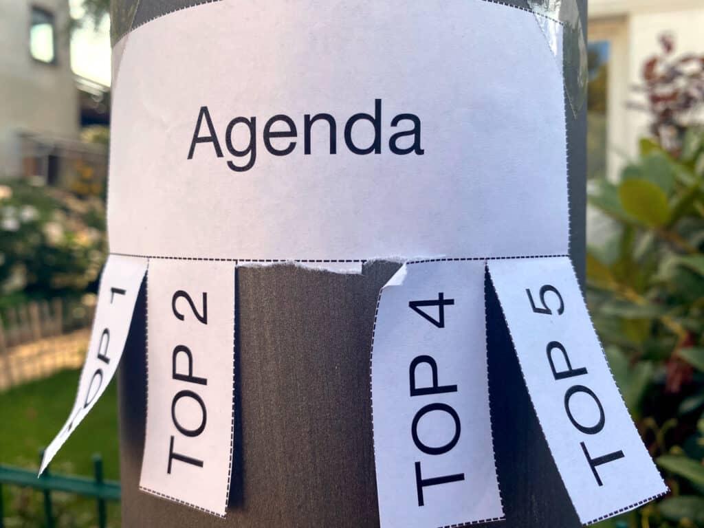 Meeting-Mischformen– Agenda